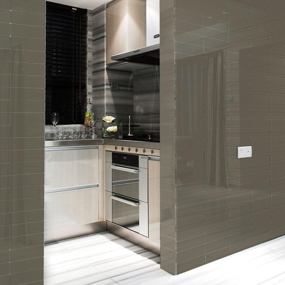Urban-Textures-Gray-Shiny-Kitchen. Browse All Tiles & Kitchen   Nassau Tile