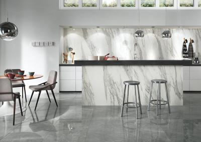 Novabell Imperial Calacatta Bianco & Grigio Imperiale Kitchen Design