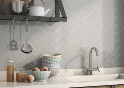 Roca Tender Gray Herringbone